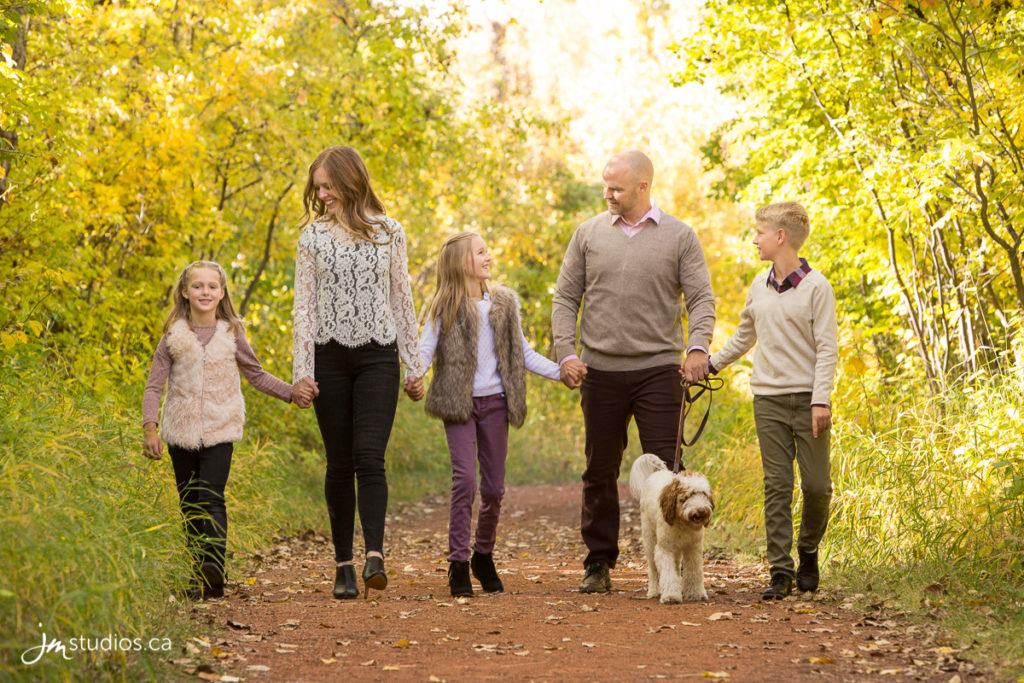The Gough's Family Photos at Fish Creek Park in Calgary